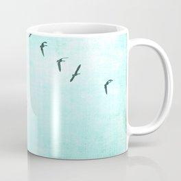 GEESE FLYING - TURQUOISE Coffee Mug