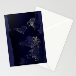 Earth Lights Stationery Cards