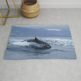 Wild and free bottlenose dolphin Rug