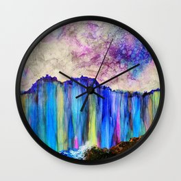 rainbow cliff Wall Clock