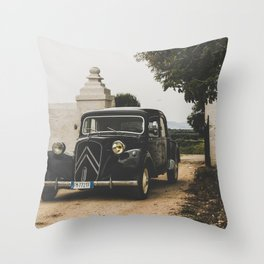 French car, fine art photography, Traction Avant, old auto, classic car, supercar, old car print Throw Pillow
