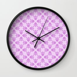 Lilac and Purple Digital Design Wall Clock