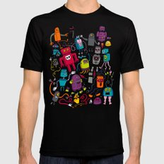 Robots 2 Mens Fitted Tee LARGE Black