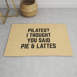 Pie & Lattes Funny Quote Rug