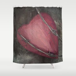 Trapped Heart II Shower Curtain