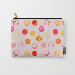Smiling Faces Pattern Carry-All Pouch