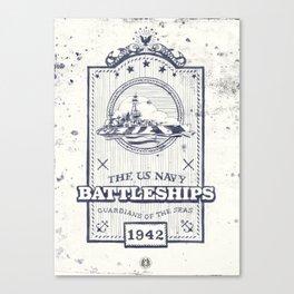 US Navy Vintage Badge Canvas Print