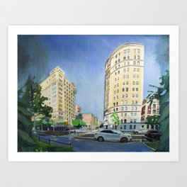 Riverside Dr & W 116th St Art Print