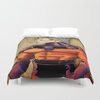 magneto Duvet Covers featuring magneto by Brian Hollins art
