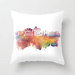 Las Vegas skyline Throw Pillow