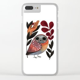 Ground Owl Clear iPhone Case