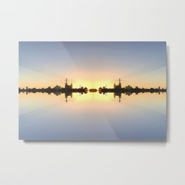 Reflective City Metal Print