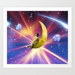 Swinging on a Star Art Print