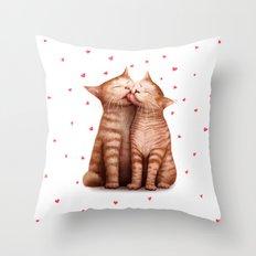 Love kittens Throw Pillow