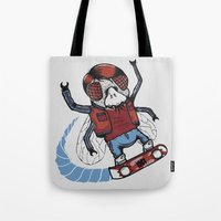 marty mcfly Tote Bags featuring Marty McFLY by Timo Ambo