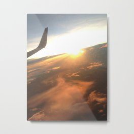 Flying into Adventure Metal Print