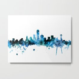 Dallas Texas Skyline Metal Print