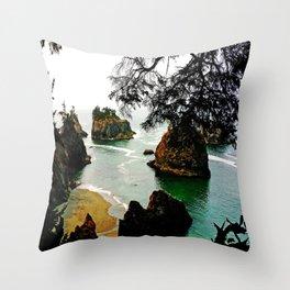 Thunder Rock Cove Throw Pillow