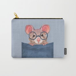 Mouse in pocket Carry-All Pouch