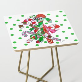Candy Cane Party Side Table