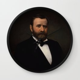 President Ulysses Grant Painting Wall Clock