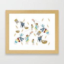 Vintage Laundry Day! Framed Art Print