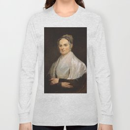Lucretia Coffin Mott Oil Painting Portrait Long Sleeve T-shirt