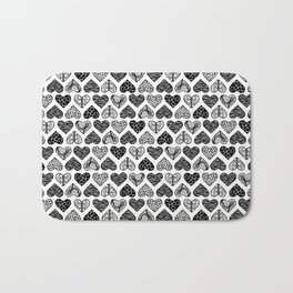 Wild Hearts in Black and White Bath Mat