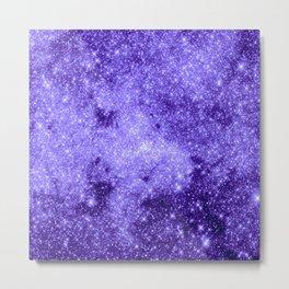 Lavender Galaxy Sparkle Stars Metal Print