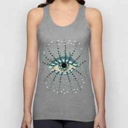 Dots And Abstract Eye Unisex Tank Top