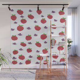 Strawberries and Ladybugs Wall Mural