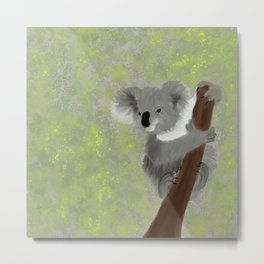 Koala Bear Hanging In There Metal Print