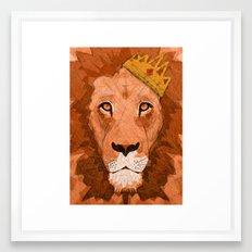 King of Lions Framed Art Print