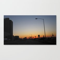 Sunset by The Strand Canvas Print