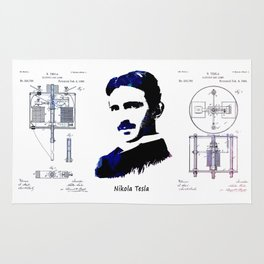 patent Tesla Electric Arc Lamp Rug
