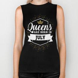 Queens-are-born-in-July Biker Tank