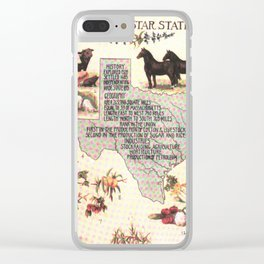 Vintage Map of Texas (1912) Clear iPhone Case