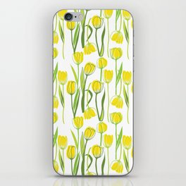 Yellow tulips spring iPhone Skin