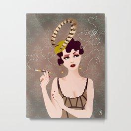 Cigarette Sigh Metal Print