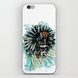 AZTEC WARRIOR SKULL SQUARE iPhone Skin