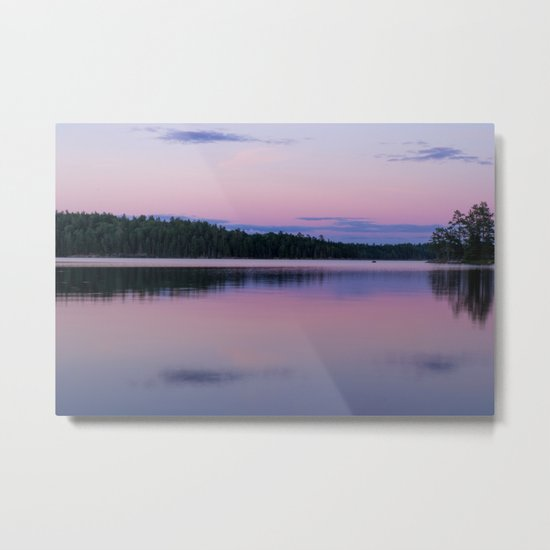 Sunset on Little Loon Metal Print