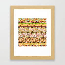 Gypsy Caravan Luxe Stripe Framed Art Print