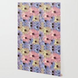 Pink Yellow Blue Wallpaper