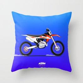 KTM 450 sx-f Endruo Bike Throw Pillow