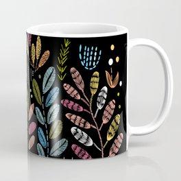 Embroidered foliage Coffee Mug