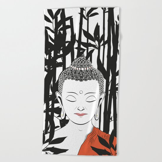 Life of Buddha Beach Towel