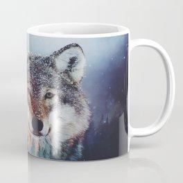 Wolf Double exposure Coffee Mug