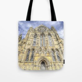 York Minster Cathedral Snow Art Tote Bag