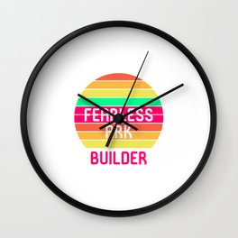 Fearless Ark Builder Noah Guy Funny Biblical Humor Quote Wall Clock