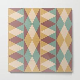 Mid Century Modern Geometric Pattern 335 Metal Print